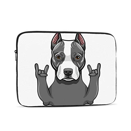 MacBook Pro 2018 Accessories Rock Gesture Rap Funny Dog MacBook Air Cases Multi-Color & Size Choices 10/12/13/15/17 Inch Computer Tablet Briefcase Carrying Bag