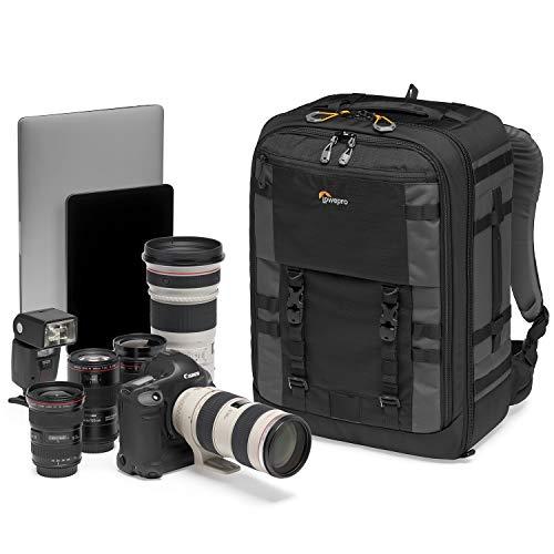 Lowepro LP37269-PWW Pro Trekker BP 450 AW II Kamerarucksack mit MaxFit Einteilern für 15-Zoll-Laptop/iPad, spiegellose Profikamera/DSLR, Sony, Canon, Nikon, Gimbal, Drohne, DJI, schwarz/dunkelgrau