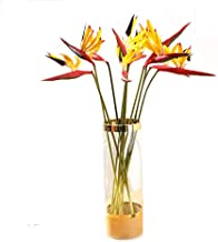 Alwayshare Artificial Flowers, 9 Pcs Elegant Bird of Paradise Tropical Imitation Plant Flower Bouquets for Home Party Decorations