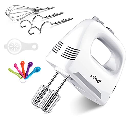AXUF Hand Mixer Electric, 4 Speed 260W Power Handheld Mixer...