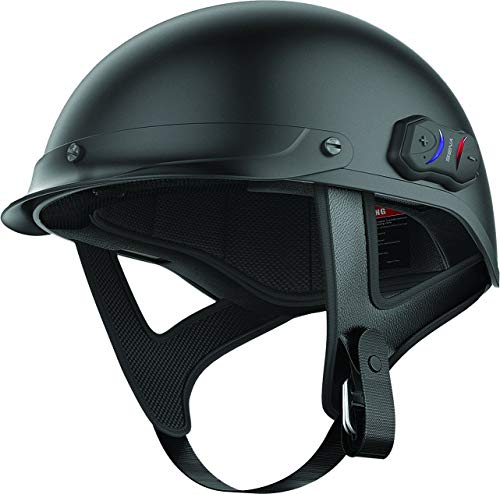 Sena Cavalry Matte Black Bluetooth Half Helmet - X-Small (Renewed)