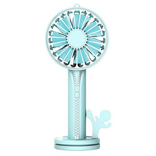 Kleine ventilator, licht en draagbaar, winddicht, verstelbaar, USB, hoge capaciteit, geschikt voor buiten/kantoor.