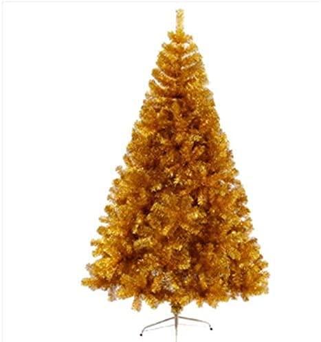 TREEECFCST Albero di Natale Bianco Albero di Natale Moderno Albero di Natale in Abete Artificiale Senza luci con staffe in Metallo 909(Color:Yellow;Size:4pcs)