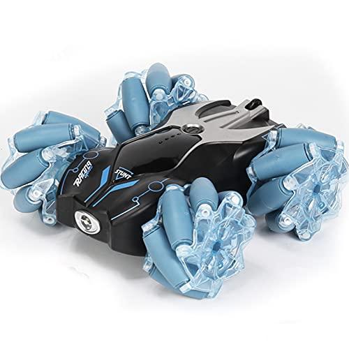 IIIL Coche Teledirigido 4WD RC Stunt Car con Rotación 360 ° Y Juguetes Deriva Todoterreno Regalo Cumpleaños Navidad para Niños Y Niñas,Negro