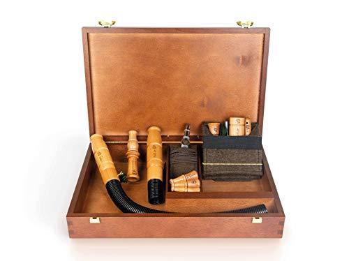 Weisskirchen Premium-Lockjagdset in edler Holzkassette, Lockinstrument, geeignet für die Jagd oder Tierbeobachtung