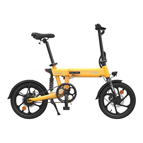 TXOZ-Q Bicicleta de galvanización Plegable Adulta 250W E-Bike IP54 Bicicleta eléctrica a Prueba de Agua Amortiguador de Choque Central único Batería extraíble (Entrega Dentro de 3-7 días)