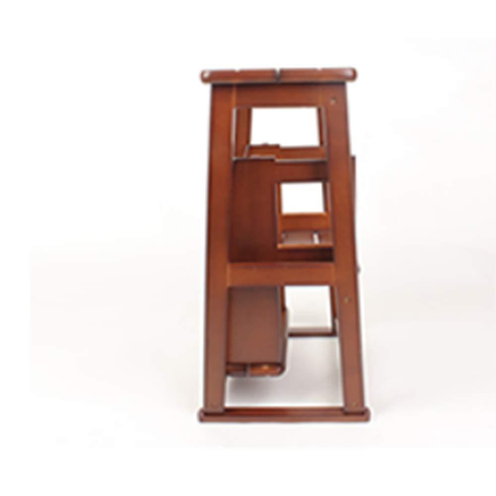 Wly&Home Taburete de Escalada, 3 escalones, de Madera Maciza, Doble Plegable, para Escalera, Silla/Taburete de casa, escaleras pequeñas, con Tapa de Madera, jardín, Herramienta de Cocina, Escalera: Amazon.es: Hogar