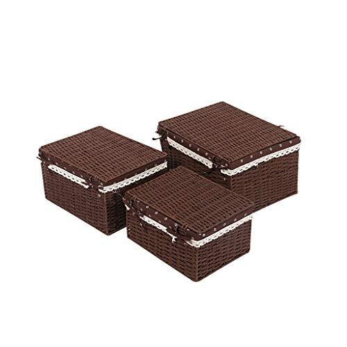 Ablagekorb Dreiteiliger Aufbewahrungskorb, Aufbewahrungsbox for Kleidung, Wäschekorb, Multifunktions-Lagerregal, Aufbewahrung zu Hause Langlebig (Color : B)