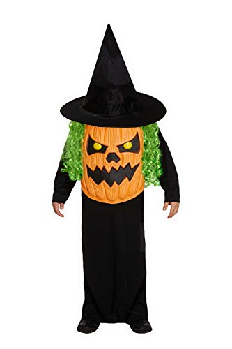 Children's Halloween Jumbo Pumpkin Head Face Fancy Dress Costume-10-12 Years