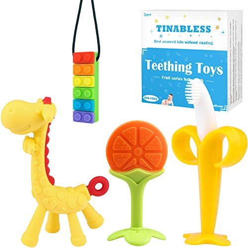 Why Should You Buy Tinabless Baby Teething Toys(4 Pack) Silicone Baby Teethers - Sensory Teethers Ch...