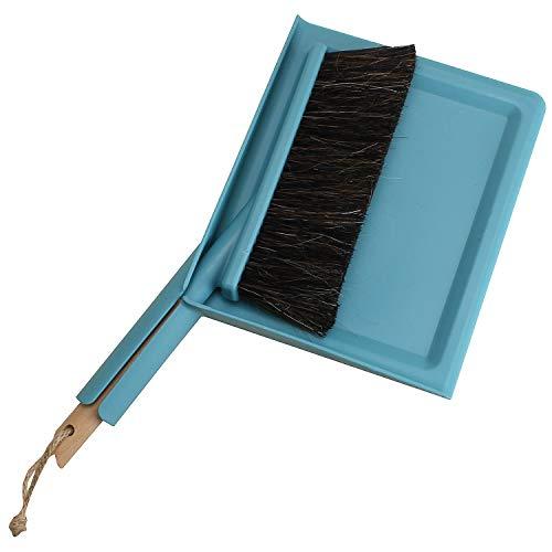 MACOSA SP1310 Kehrset Türkis-Blau | Eckig | Handfeger & Schaufel | Kehrwisch | FSC ZERIFIZIERT | Kehrgarnitur Kehrschaufel-Set Handfeger Handbesen