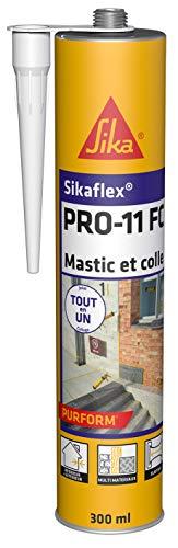 Sikaflex PRO 11 FC Purform Blanc, Mastic polyuréthane PU tout en 1, mastic multi-matériaux, mastic étanche intérieur et extérieur, 300ml