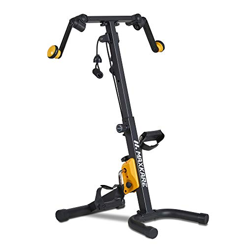 MaxKare Arm Leg Pedal Exerciser Machine Mini Compact Exercise Bike Peddler Exercise Bike Physical Therapy for Seniors and Elder