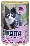 BOZITA Pate Nassfutter für Katzen mit Garnelen - Getreidefrei - 20x410 g - nachhaltig produziertes Katzenfutter für erwachsene Katzen - Alleinfuttermittel