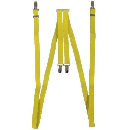 Relco Bretelles fines 1,7 cm Skin/Mod/Punk jaune