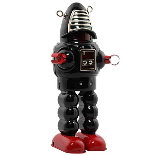 Freak Scene Robot - Robot de hojalata - Mechanical Planet Robot - Negro - Juguete de Lata