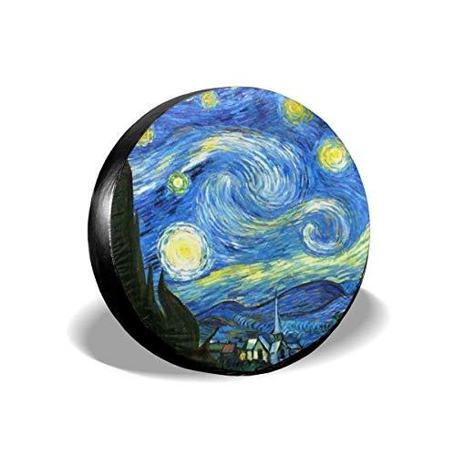 JONINOT Cubierta para llanta de Repuesto Van Gogh Starry Sky Trailer Truck RV SUV Fundas Travel Universal