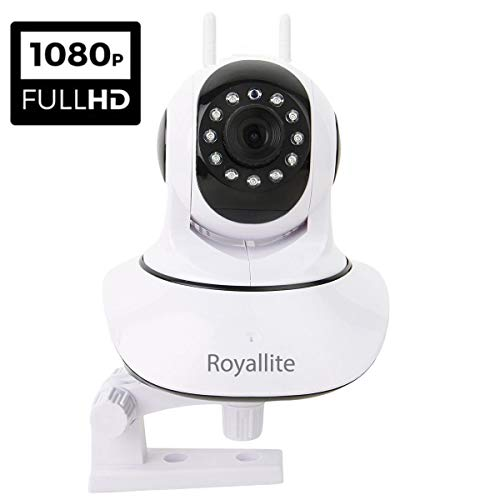 Royallite 2MP WiFi Security Camera with Cloud Storage/SD Card Storage White