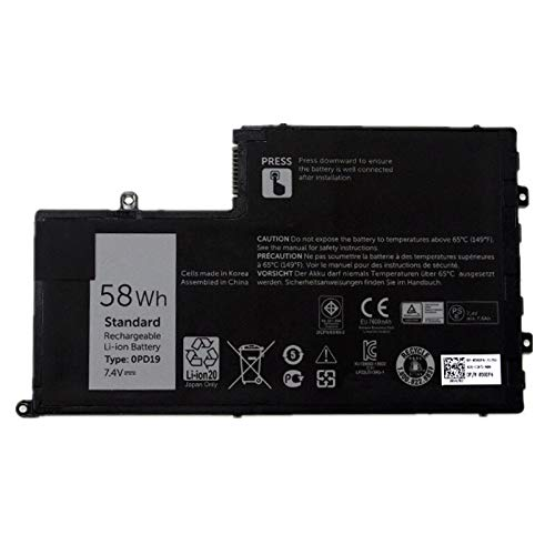 Huiyuan 58Wh 7.4V 0PD19 DFVYN 58DP4 86JK8 Laptop accessories Compatible for Dell Inspiron 14 15 14-5447 15-5547 3450 3550 5448 5545