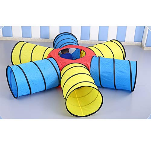 HHUT Kids' Fitness Equipment - Kids Sunny Rainbow Tunnel 2 Styles – Indoor Crawl Tube for Kids Adventure Pop Up Toy Tent (Color : B, Size : #01)