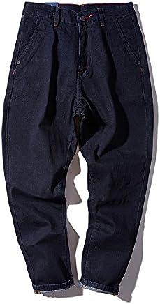 Dufjodi Big size jeans, big size jeans, Haren jeans, pure color casual pants,Picture color,4XL