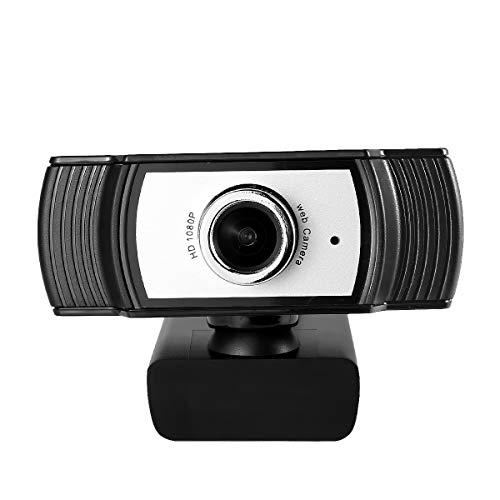 Eurobuy Webcam per Computer Full HD 1080P Webcam per Computer USB Plug-N-Play Webcam con Microfono Incorporato per La Riduzione del Rumore per PC Lapt