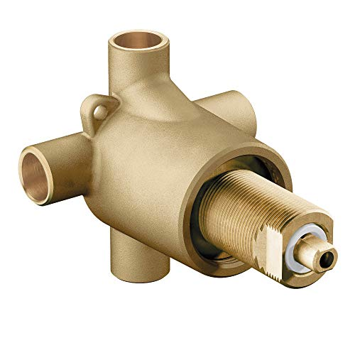 Moen 3360 M-Dura Showering Brass Three-Function Shower Transfer Valve 1/2-Inch CC Connections, N/A