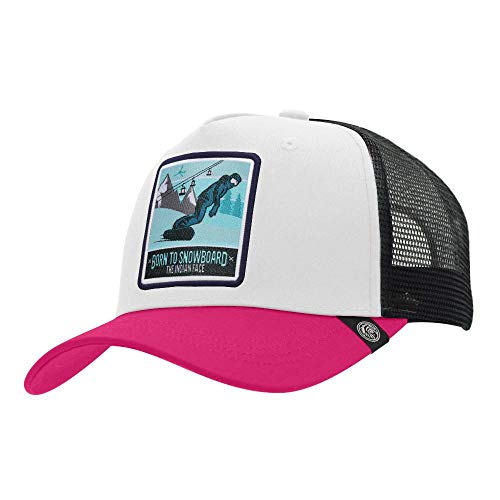 The Indian Face Born to Snowboard White/Pink/Black