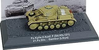 Deagostini 1:72 Diecast Model Tank - PZ KPFW II AUSF F Sd.Kfz 121 21.Pzdiv Gambur Libya 1941 Army Tank #51