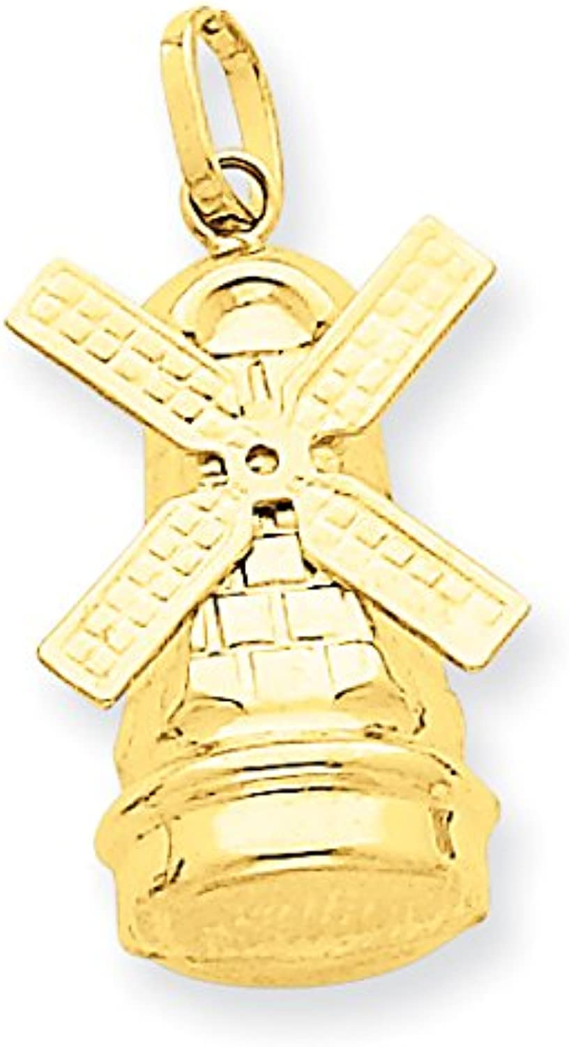 Diamond2Deal 14k Yellow gold Windmill Pendant