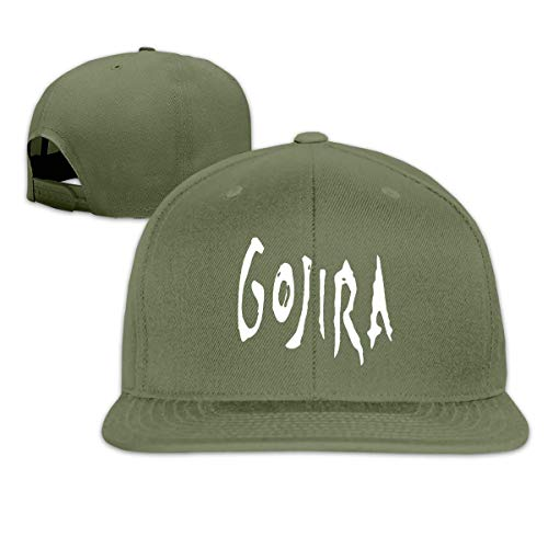 HIPGCC Gorra de béisbol Unisex con Logotipo de Gojira, ala Plana, Gorra de Rock, Snapback Ajustable