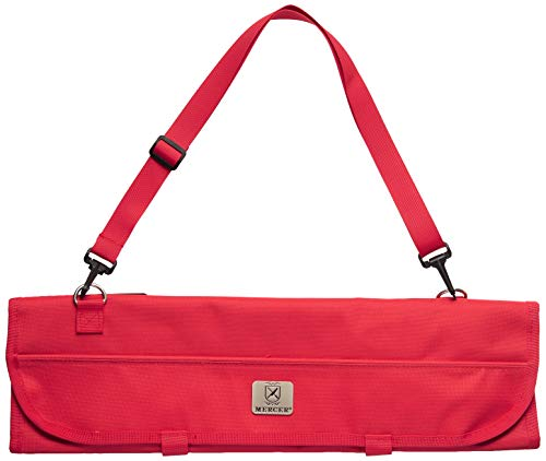 Mercer Culinary 7Pocket Knife Roll Storage Bag One Size Red