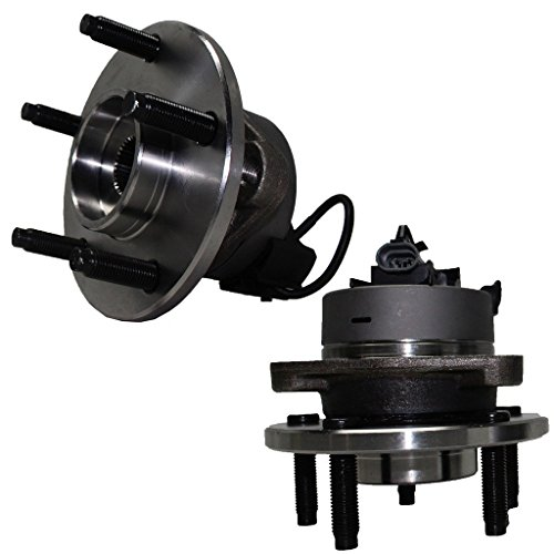 5-Lug - Detroit Axle - w/ABS Front Driver and Passenger Side Wheel Hub and Bearing Assembly for - Cobalt, Pursuit w/ABS - 5 Lug Wheel and HHR w/ABS & Rear Drum Brakes