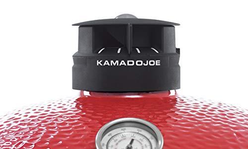 Kamado Joe BJ24RHC Big Joe II Charcoal Grill, 24 inch, Blaze Red