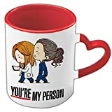20Giugno Tazza Grey's Anatomy Meredith Grey e Cristina Yang - You're My Person - Tazza Migliori Amiche - Tu Sei la mia Persona - Best Friend - Manico a Cuore