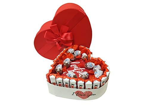 Torta Barrette Kinder Con Scatola Cuore e Cialda San Valentino Kit fai da te KITSVCUORESCAT01