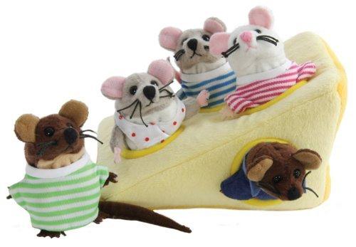 Un delizioso cuneo di formaggio con una famiglia di foro 5cute little Finger Puppet topi ciascuno con i propri. Ogni Finger Puppet viene splendidamente vestita e la entrance li aiuta a elasticizzata per adattarsi perfettamente alle dita. Non adatto ...