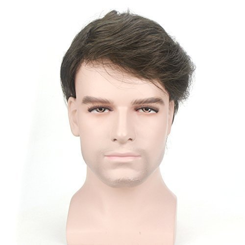 Lordhair Peluquín Super Thin Skin 100% Cabello Humano Color #4ASH Negro Oscuro