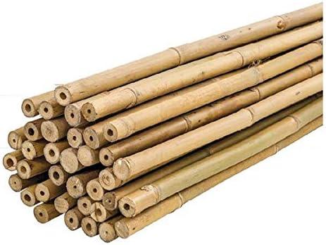 Paquete 25 Unidades 150cm Tutores Plastificados /Ø 6-8 mm PLANTAWA Tutores de Bamb/ú Hortalizas y /Árboles Uso Agr/ícola para Sujetar Plantas