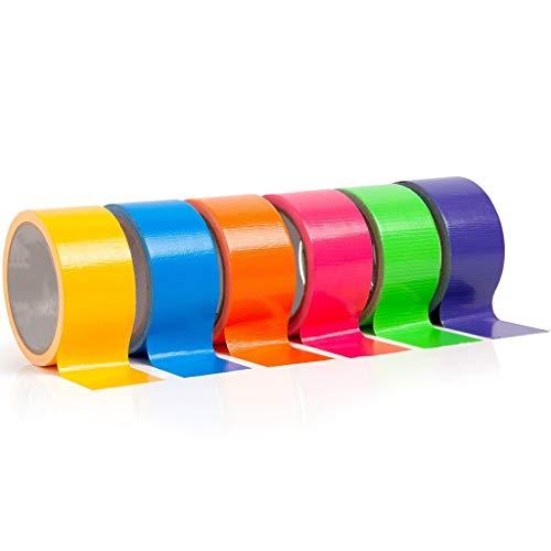 DEtrade 6 Stück Klebeband Multi Colored Duct Tape 6 Farben 10 Yards x 2 Zoll Rollen Girls & Boys Kids Craft (A)