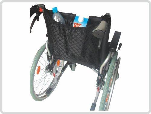 Einkaufsnetz m.Innenfutter schwarz, Rollstuhl-Zubehör