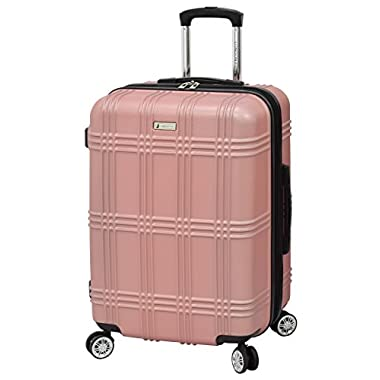 London Fog Kingsbury 25  Spinner Luggage, Rose Gold
