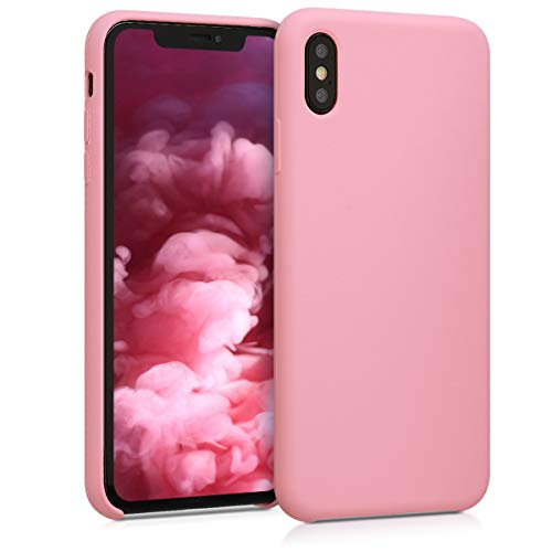 kwmobile TPU Silicone Case Compatible with Apple iPhone Xs Max - Soft Flexible Rubber Protective Cover - Light Pink