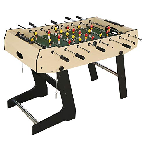 Timberlion 4ft Foldable Foosball Table Football Soccer Indoor Game Table Kids Family Play Sports Fun