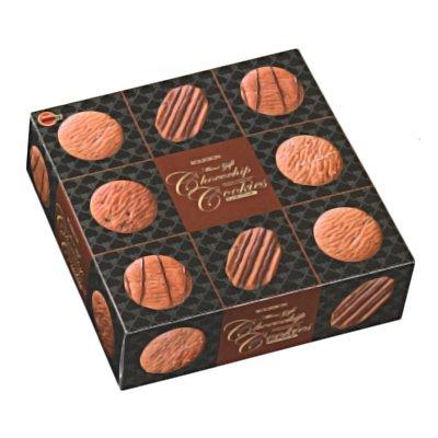 ブルボン ミニギフトチョコチップクッキー缶 60枚 8コ入り