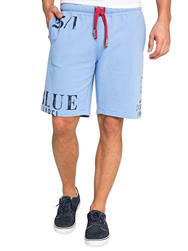 Camp David Herren Sweat-Shorts mit Label Prints