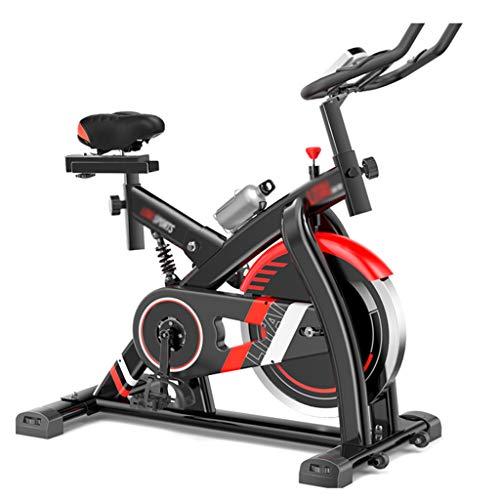 Indoor hometrainer, fietsen met gewatteerde armsteun, comfortabele stoel, geluidsarm riemaandrijfsysteem voor gewichtsverlies