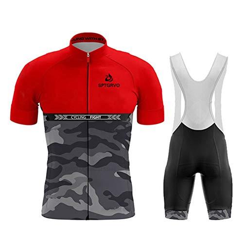N/A Bodies de Ciclismo para Hombre~Ciclismo Conjunto Mangas Cortas Jersey 9D Acolchado De Gel Ciclismo Culote,Transpirable/Secado rápido,para MTB/Spinning/Bicicleta,style8,3XL