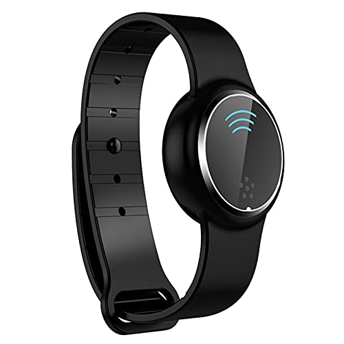 HAOTENG Ultrasonic Mosquito Repellent Bracelet for Kids And Adults,Electronic Bionic Mosquito Repellent,Reusable Waterproof Watch Anti Mosquito Repellent Bracelet With USB Charging black