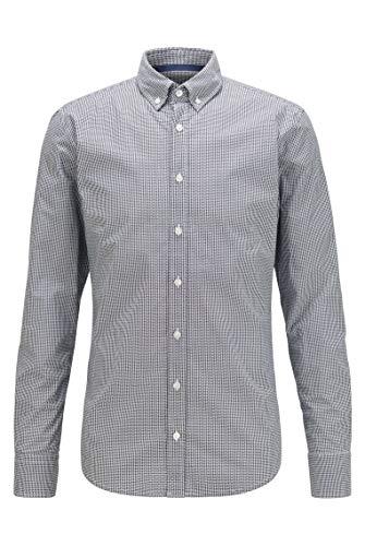 BOSS Herren Mabsoot Bedrucktes Slim-Fit Hemd aus elastischer Baumwolle